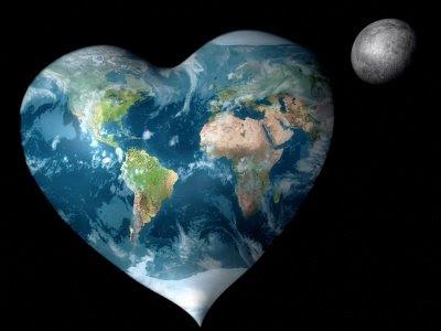 kalp şeklinde dünya