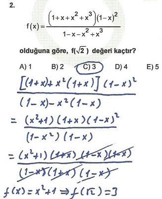 2010 lys matematik 2. soru ve çözümü