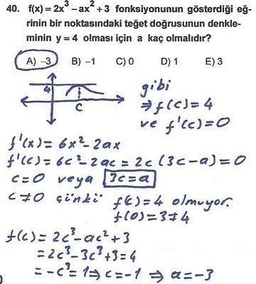 2010 lys matematik 40. soru ve çözümü
