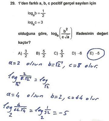 2010 lys matematik 29. soru ve çözümü
