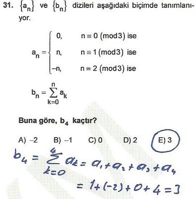 2010 lys matematik 31. soru ve çözümü