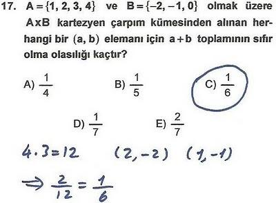 2010 lys matematik 17. soru ve çözümü