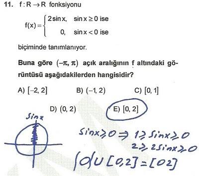 2010 lys matematik 11. soru ve çözümü