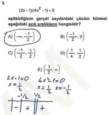2010 lys matematik 3. soru ve çözümü