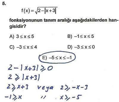 2010 lys matematik 5. soru ve çözümü