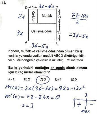 2010 lys matematik 44. soru ve çözümü