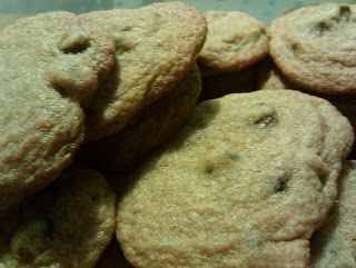Chocolate Chip Cookies, close up.