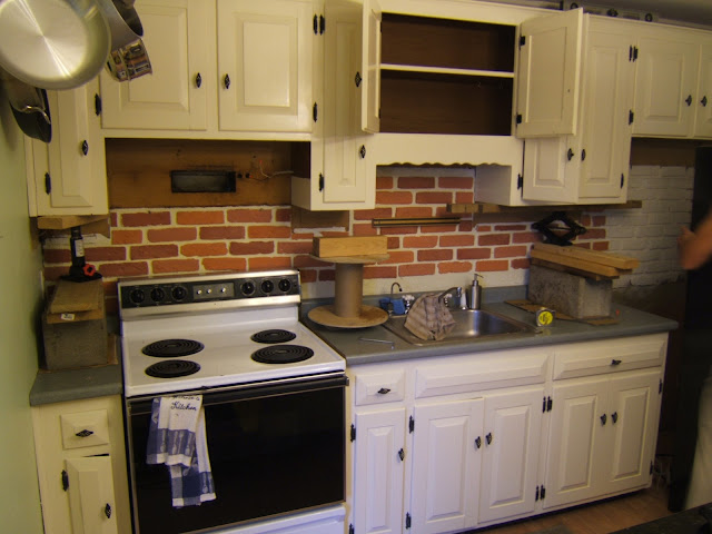 Faux Brick Backsplash Kitchen