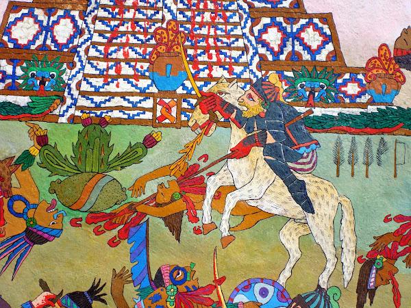 detalle de la matanza en Tenochtitlan