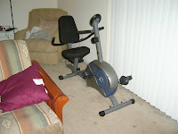 my recumbent bike all set up and ready to ride