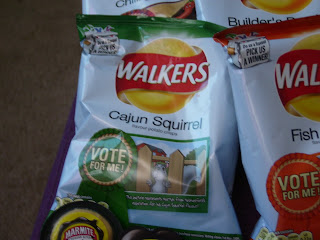 Walkers Cajun Squirrel flavored crisps