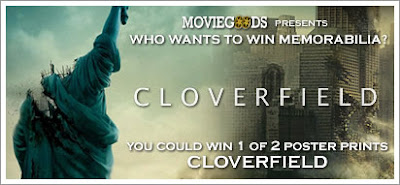 You could win the CLOVERFIELD poster!