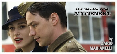 Atonement by Dario Marianelli wins Oscar