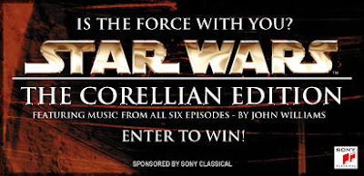 Enter to win: WARS:  THE CORELLIAN EDITION soundtrack by John Williams