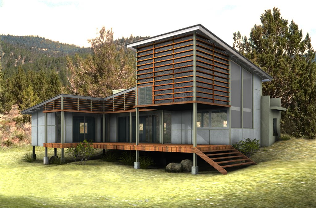 Interior exterior house building green house design for Eco home plans