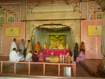 Lord Radha Govind giving darshan at the Govind Devji temple - Jaipur