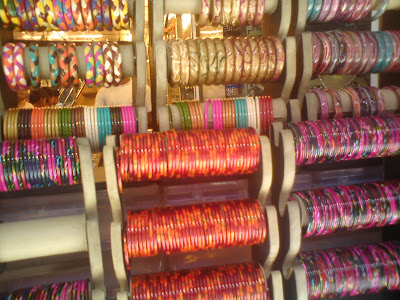 Colorful glass bangles in Bapu Bazaar, Jaipur