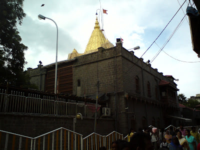The Golden spire of the Samadhi Temple in Shirdi
