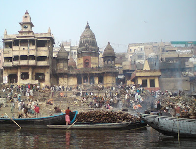 The Manikarnika or the Burning Ghat in Varanasi