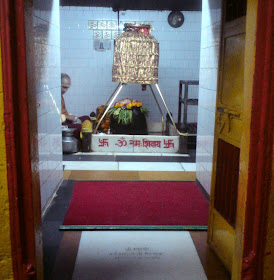 The shivling at the Kashi Vishwanath Temple of Uttarkashi