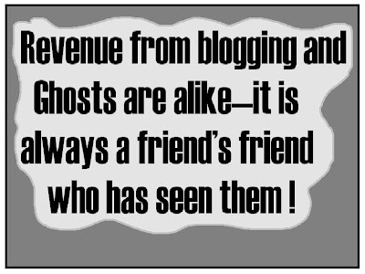 blogging revenue, ghost, no revenue, zero revenue, blogging graffitti