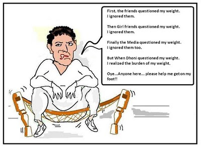dhoni yuvraj singh test cricket cartoon