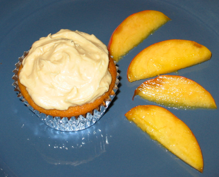 Sarah's Kitchen Adventures: Peach Cupcakes with Brown Sugar Frosting