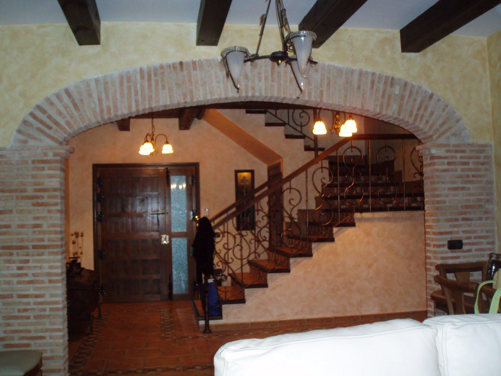 Arcos de tabique rojo en cocinas for Arcos de ladrillo rustico
