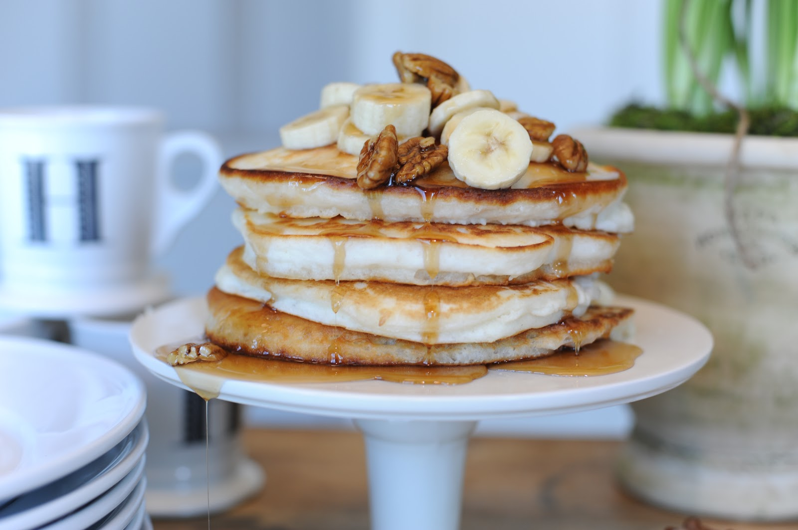 Jenny Steffens Hobick: Recipes | Banana Pecan Pancakes | Easy Holiday ...