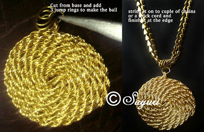 crafty jewelry : make a gold spiral pendant
