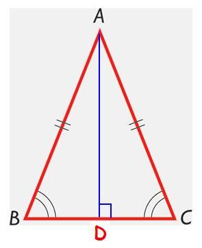 Diccionario Matematicas: Triángulo Isósceles