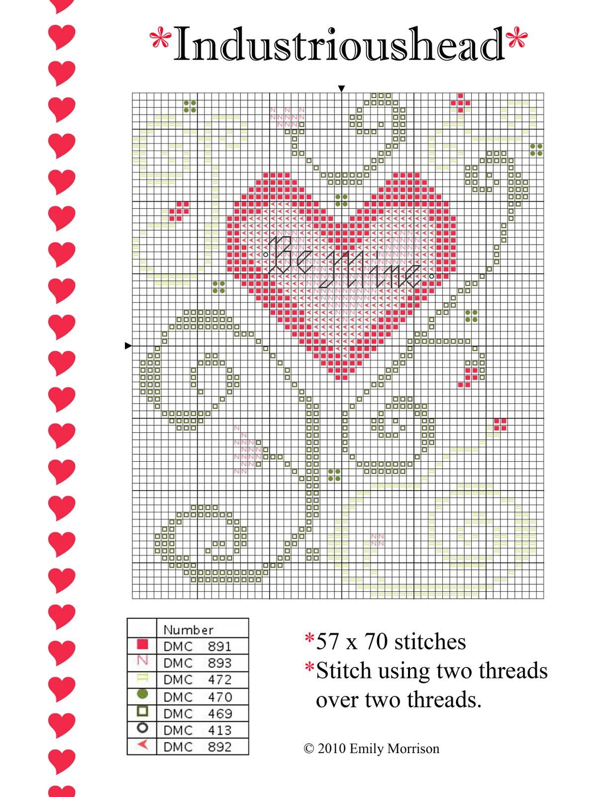 Схемы для вышивки крестом к дню влюбленных. ОСТРОВОК ПОДЕЛОК 78