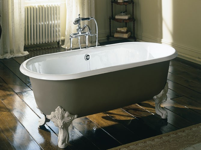 Decorando la francesa banheiras - Peinture baignoire fonte ...