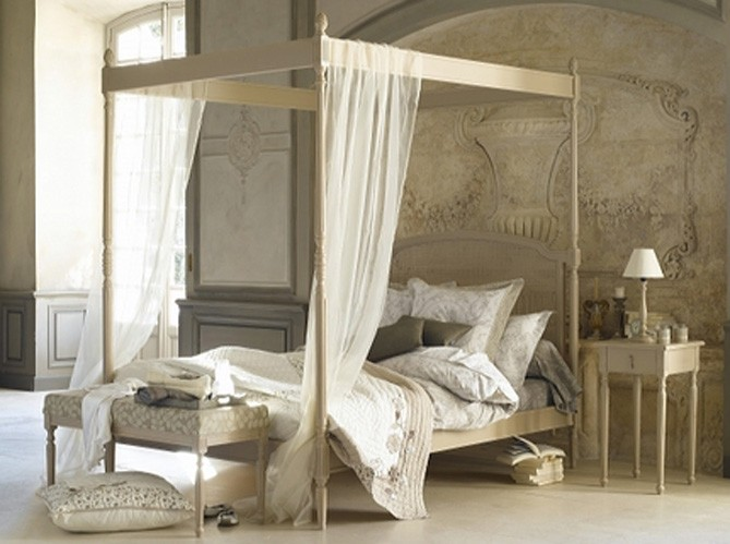 Decorando la francesa camas - Lit baldaquin fait maison ...
