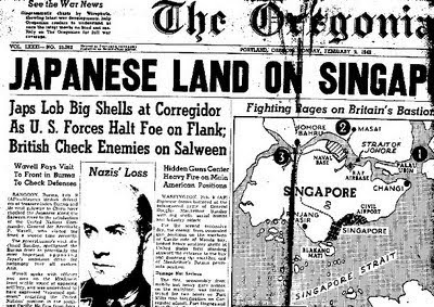 Fall Singapore Pictures on Singapore Evacuation 1942  Headlines Related To The Fall Of Singapore