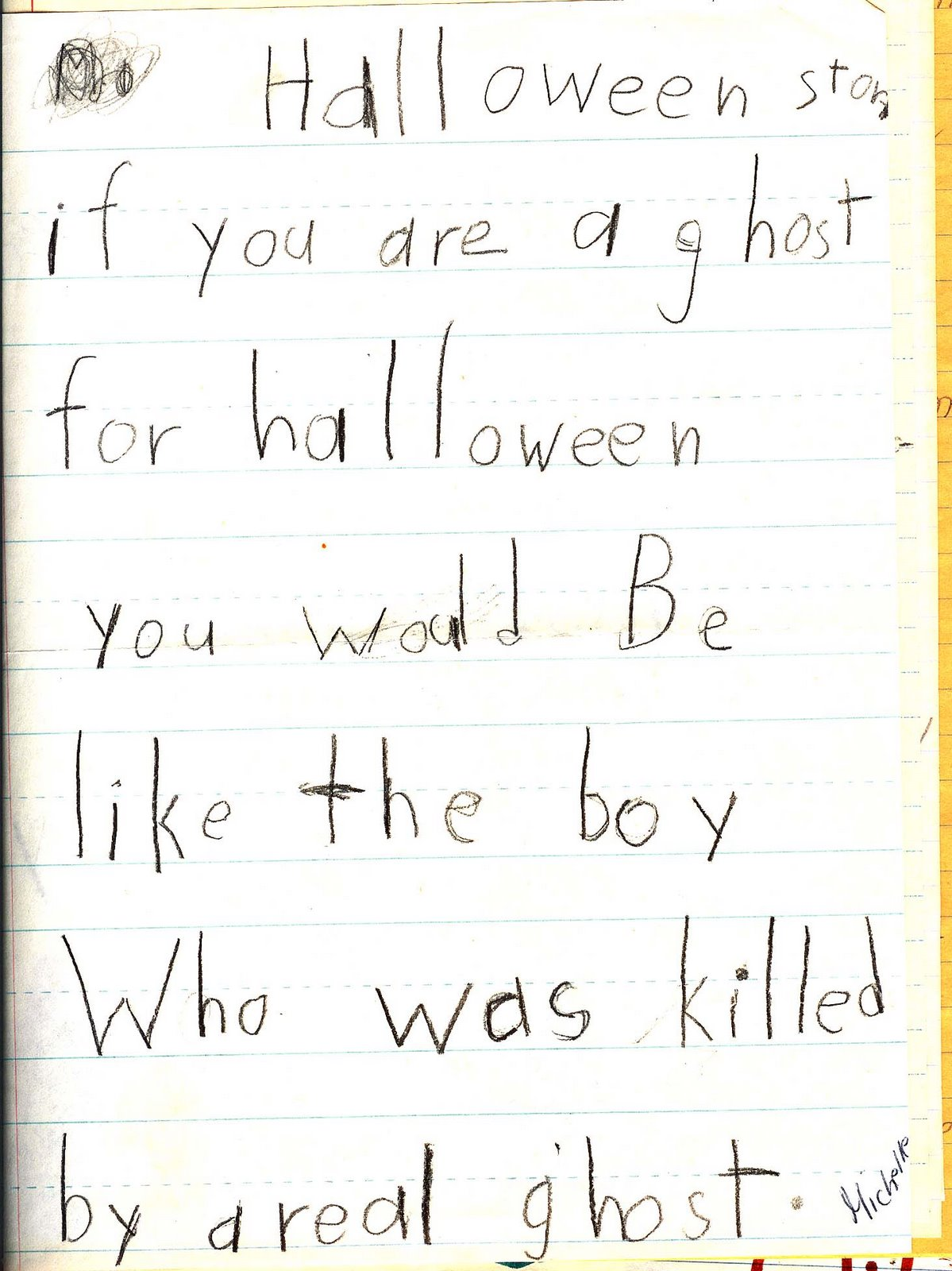the underwear drawer this must have been some halloween assignment what is a teacher supposed to say to a halloween story like that