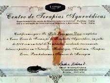 Certificado de ayurveda