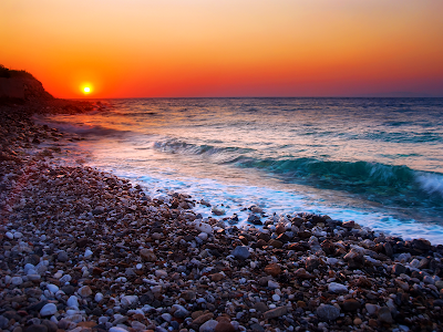 mexico beaches wallpaper. Sunset Rocky Beach wallpaper,