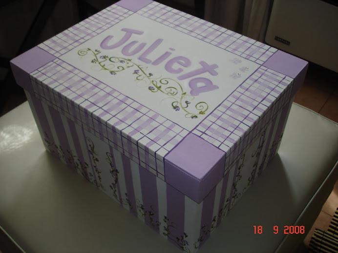 Caja grande Julieta en Lila