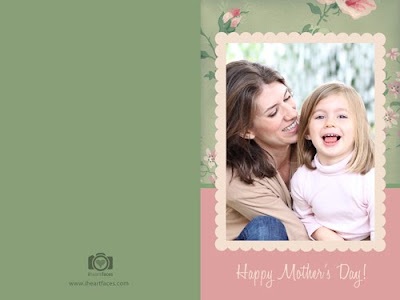 Free Mothers Day Photo Cards! Templates For Photoshop and Photoshop Elements - Free Download at iHeartFaces.com