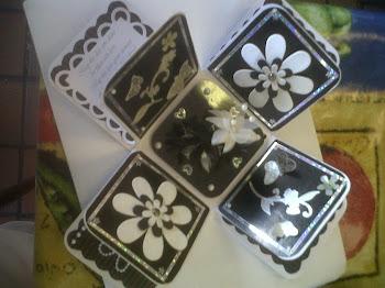 black and white box open