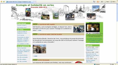 Capture du site de campagne de Grenoble écologie et solidarité en actes