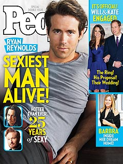 Ryan Reynolds Sexiest Man in the World People magazine cover