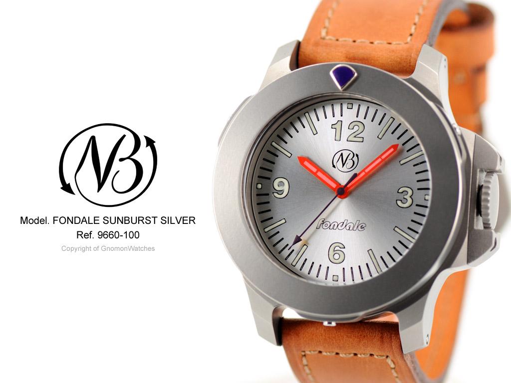 OceanicTime: ENNEBI Fondale 'Sunburst Silver' (gnomon watches)