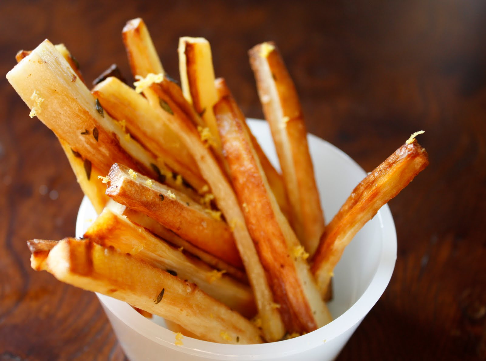 Parsnip Fries with Thyme and Lemon