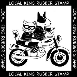 Local Queen Rubber Stamp