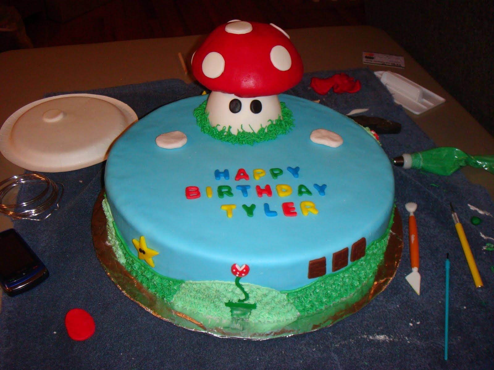 Pink Sugar Bakery Mario Luigi Birthday Cake