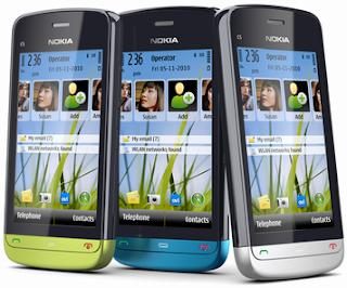 Nokia C5-03 Diumumkan Symbian^1 Layar Sentuh