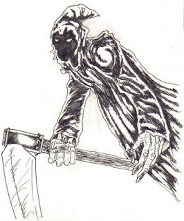 Wayne tully fantasy art drawing a grim reaper on hubpages
