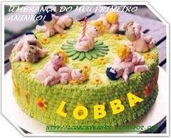 Bolo de aniversário do Blog da Lobba